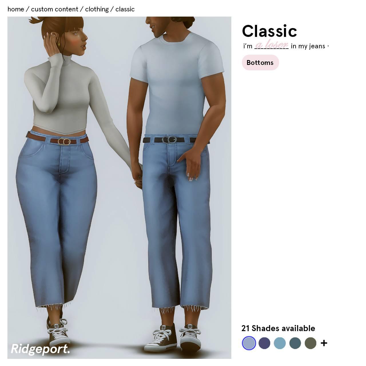 Набор одежды для мужчин и женщин - classic jeans and bronte sweater