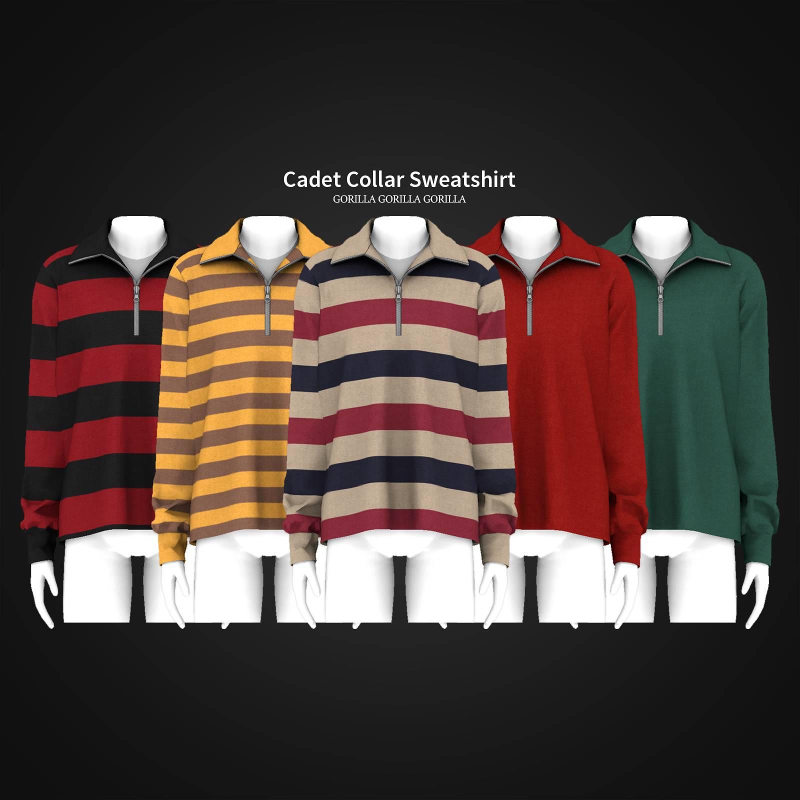 Кофта - Cadet Collar Sweatshirt