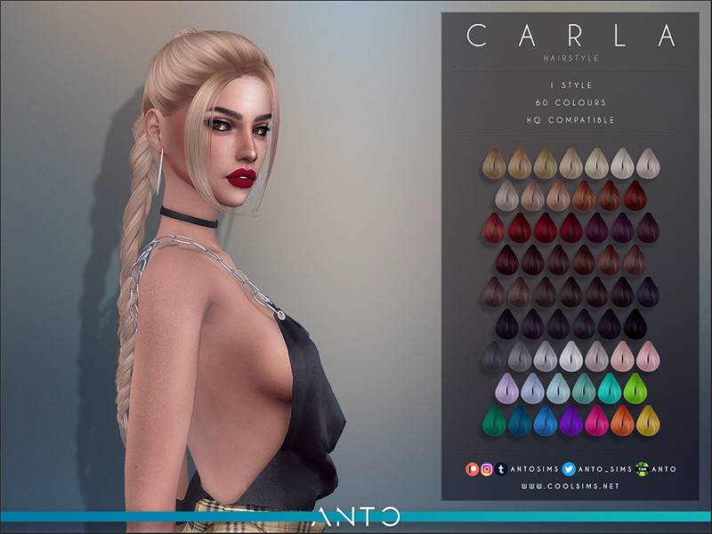 Женская прическа - Carla