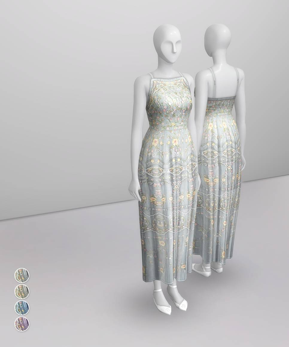 Платье - Pale Pastel Embroidered Tulle Gown