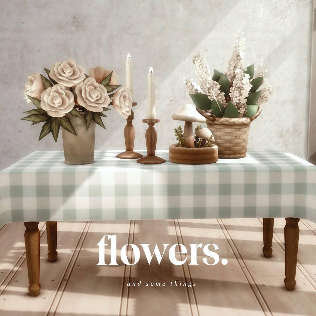Набор декоративных объектов - Flowers