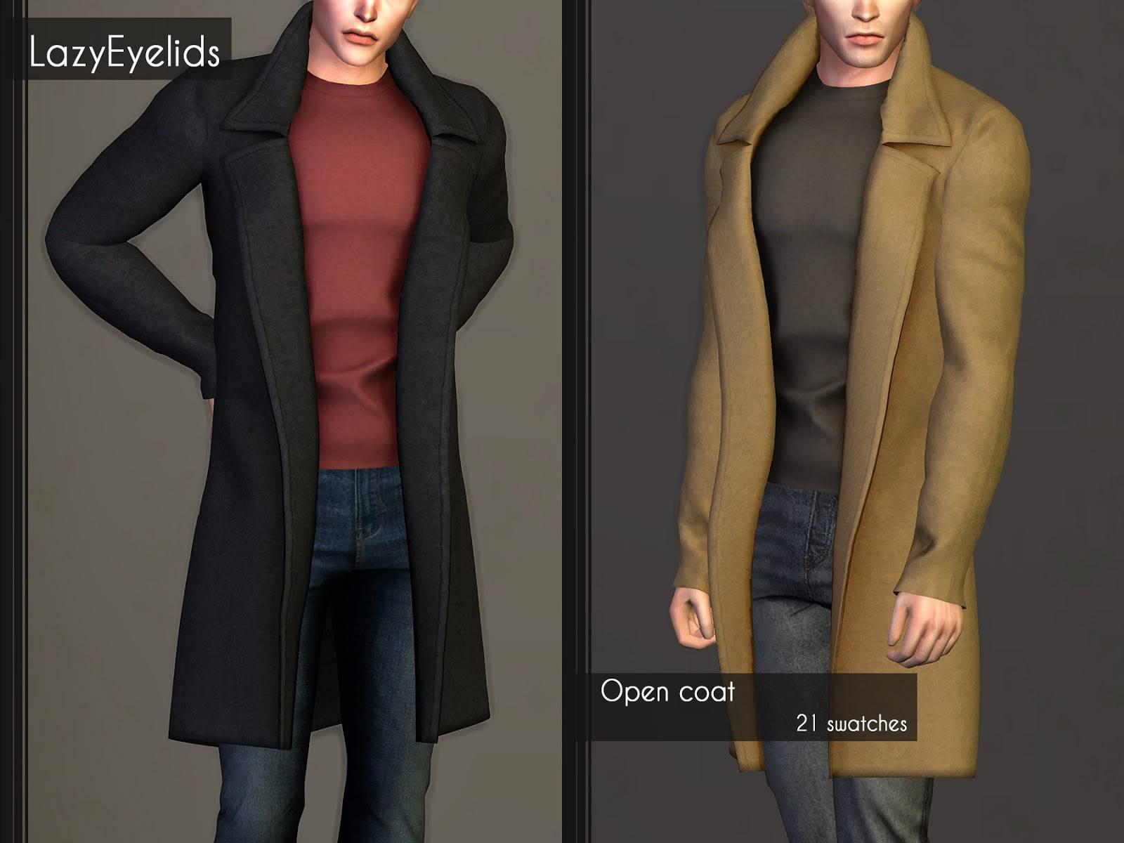 Пальто и джемпер - Open coat