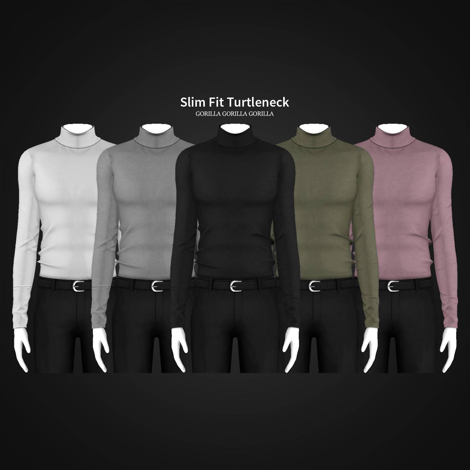 Водолазка и брюки - Slim Fit Turtleneck