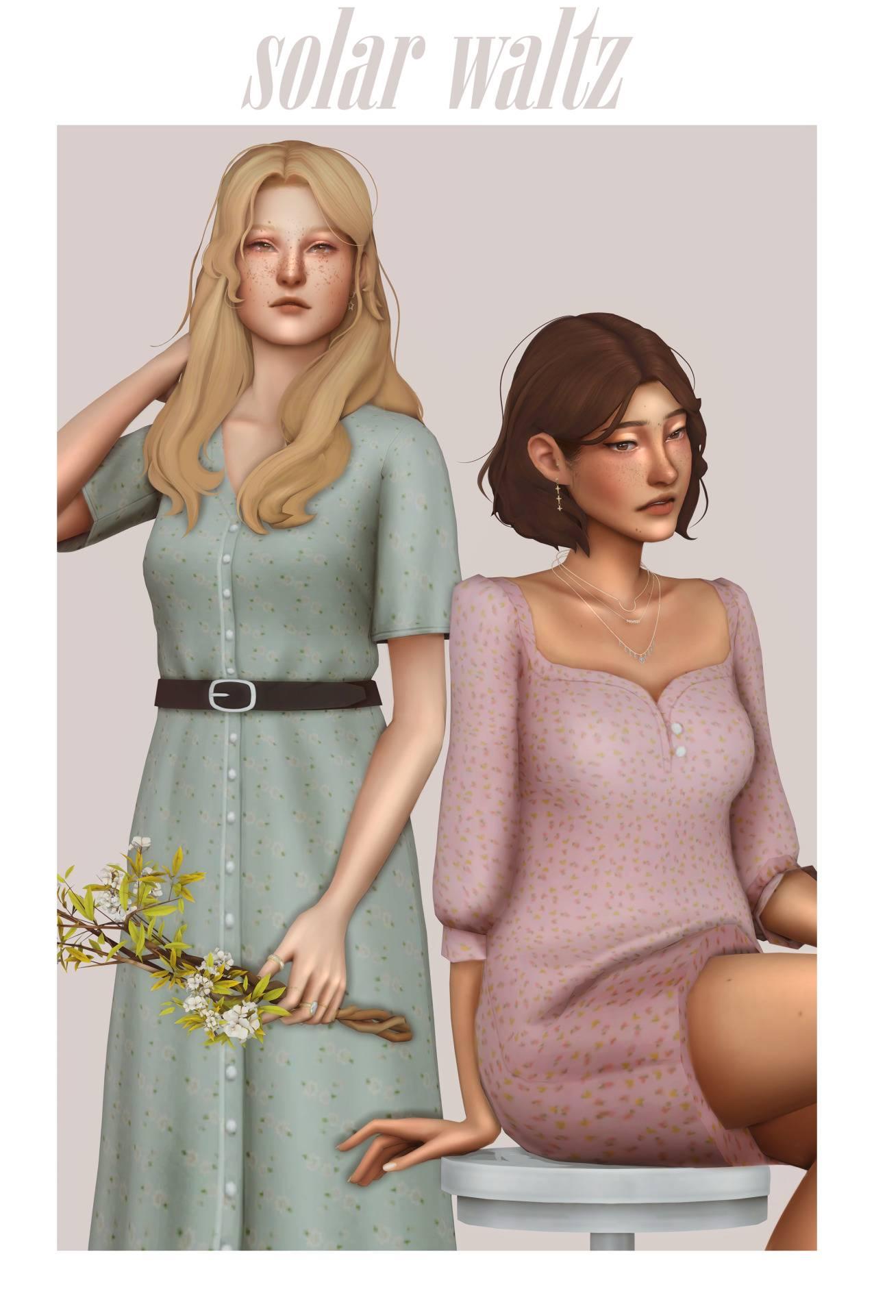 Набор одежды и причесок для женщин - Solar waltz