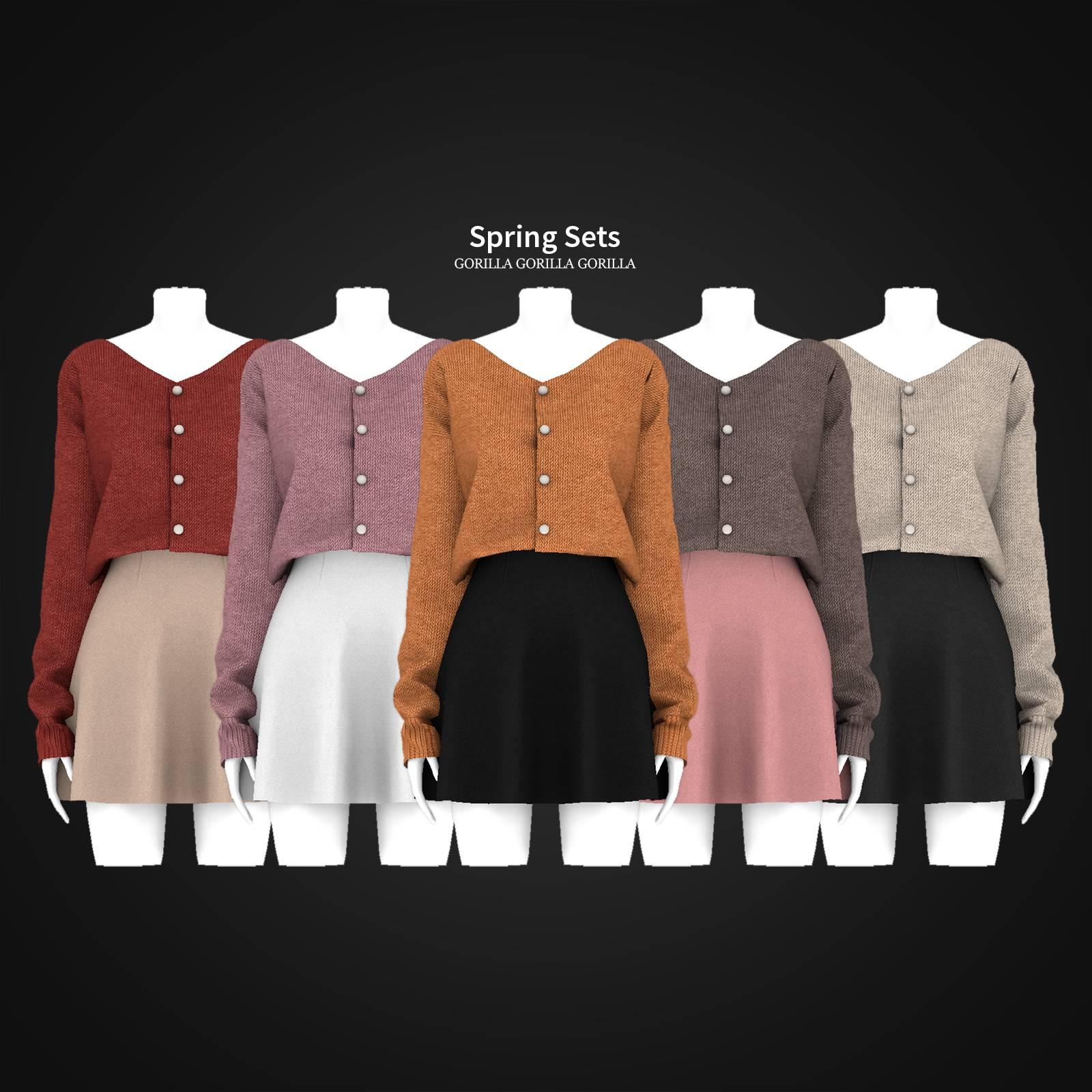 Кардиган и юбка - Spring Sets