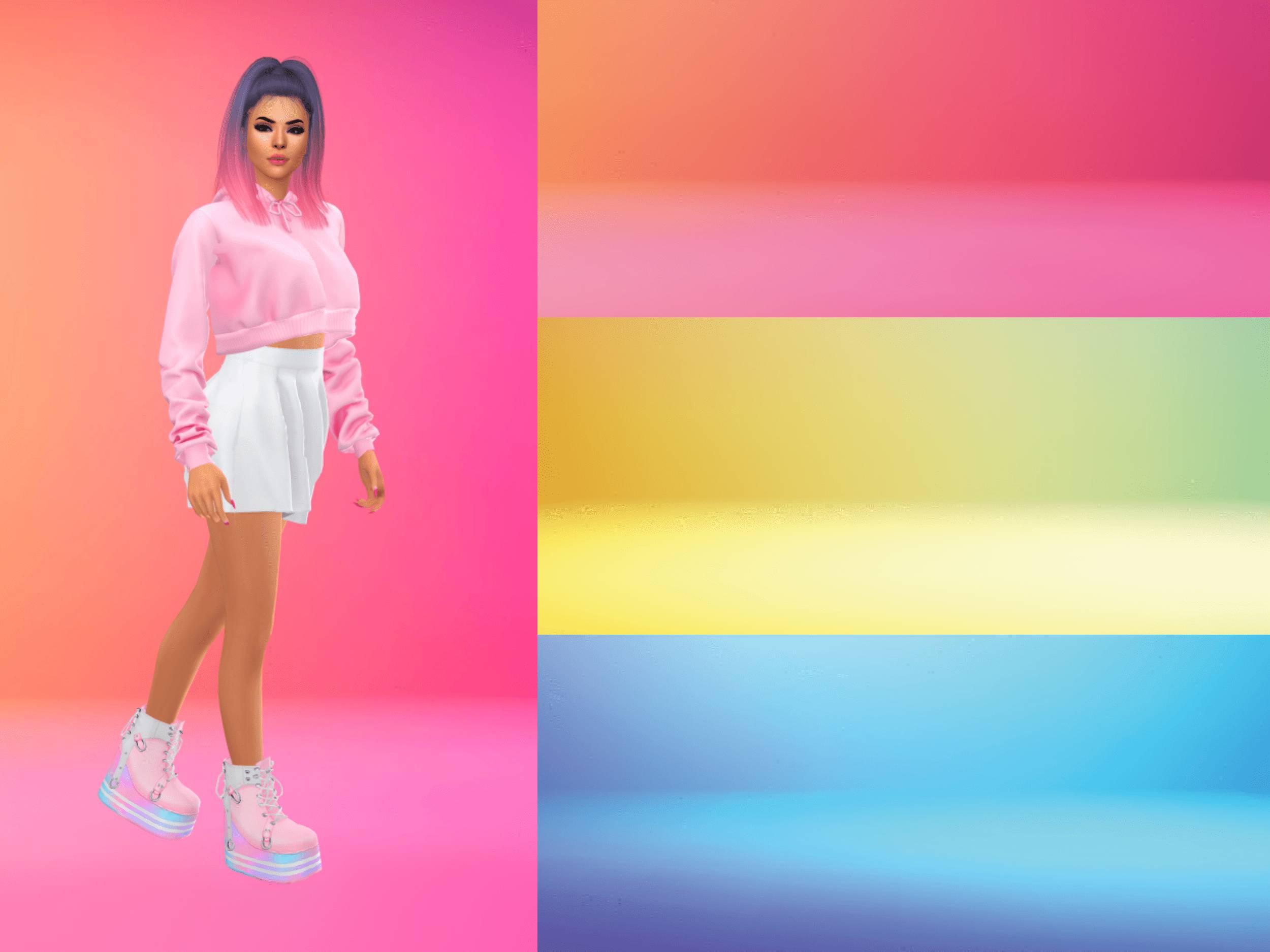 Фоны для CAS - Colorful Gradient Studio