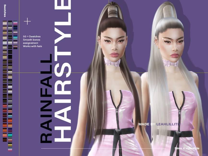 Женская прическа - Rainfall Hairstyle
