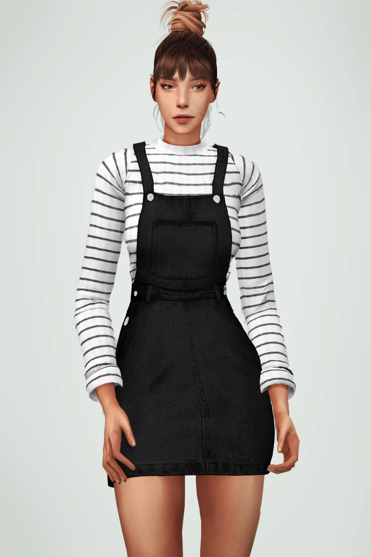 Сарафан и свитер - Sweater overall dress