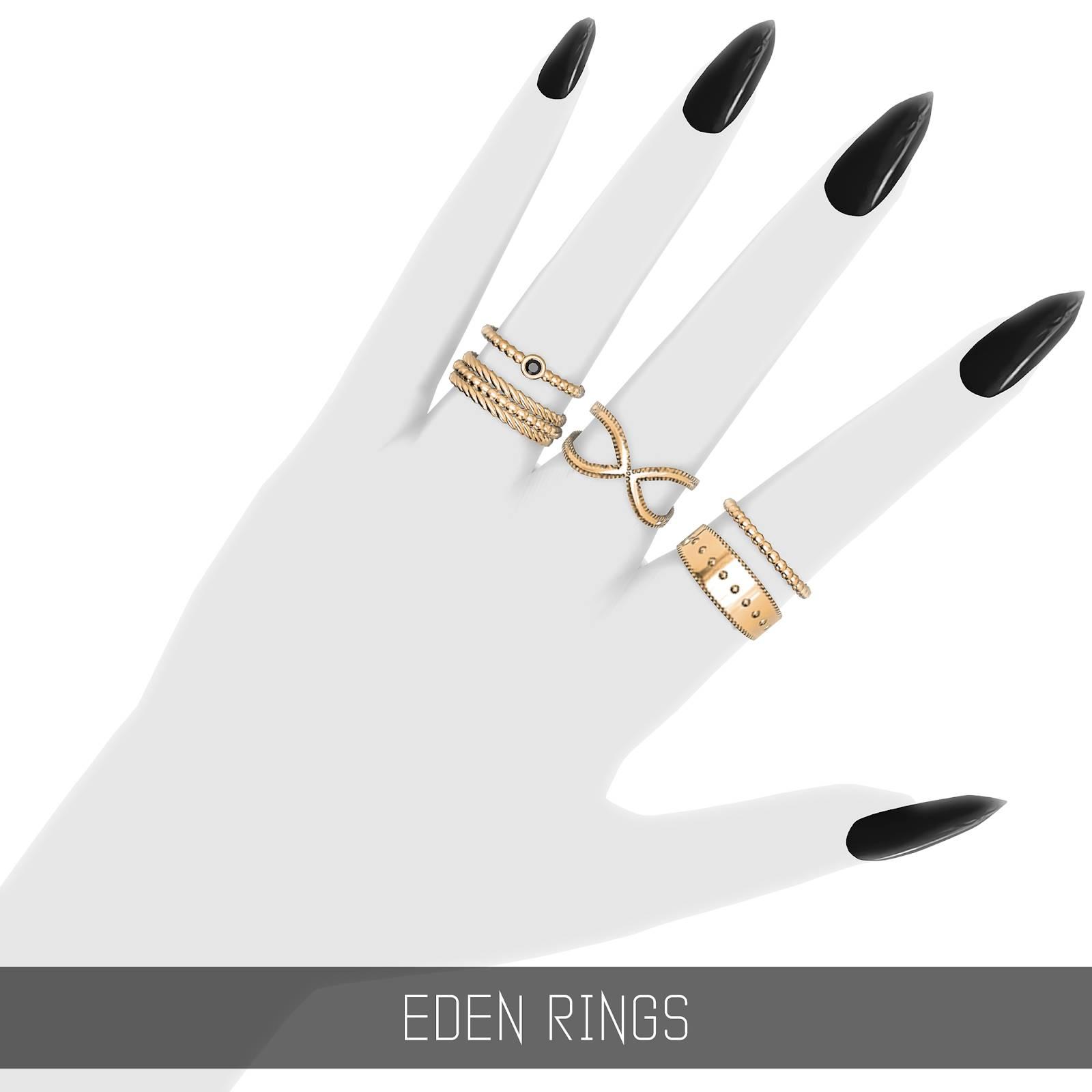 Комплект колец - EDEN RINGS