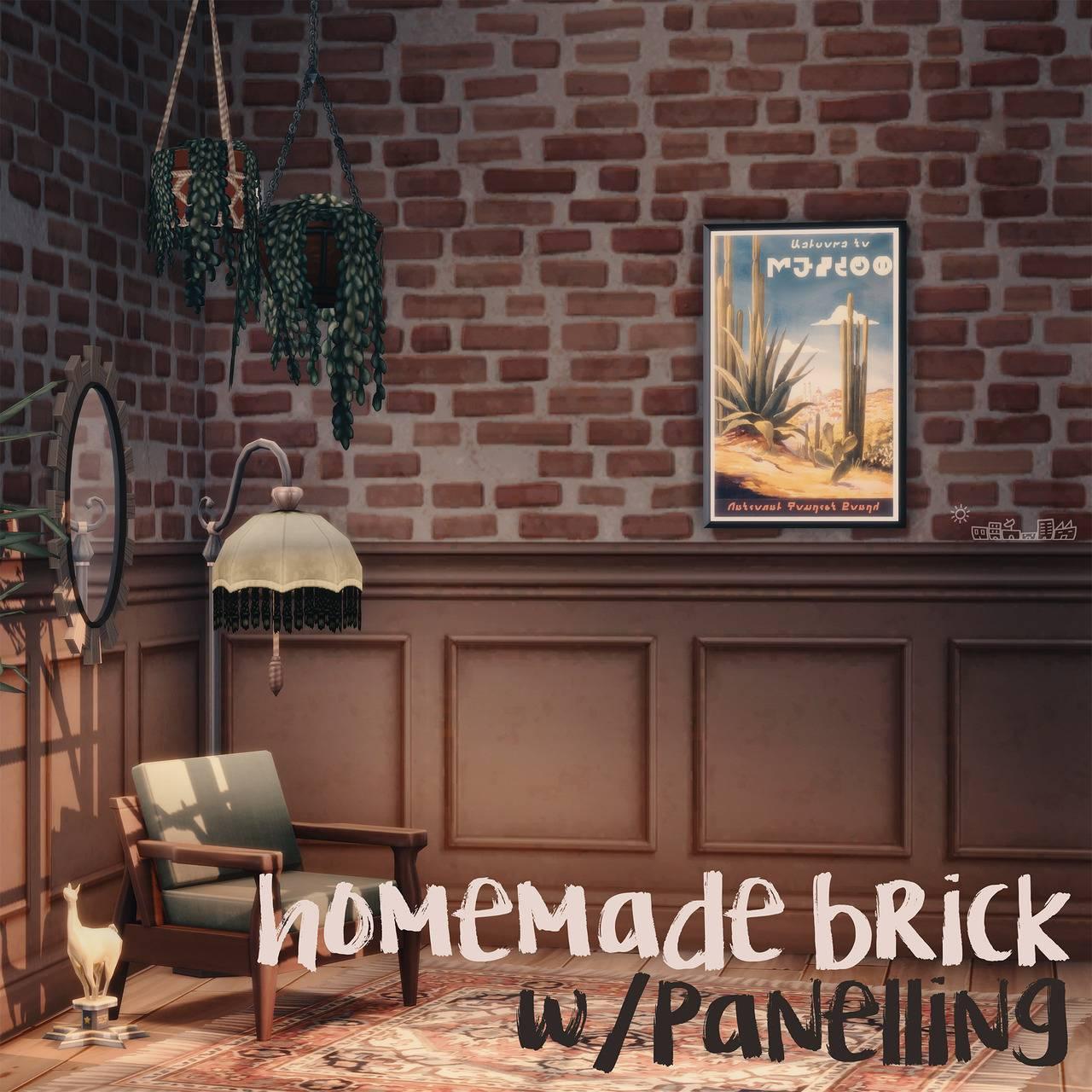Комбинированное настенное покрытие - HOMEMADE BRICK WITH PANELLING