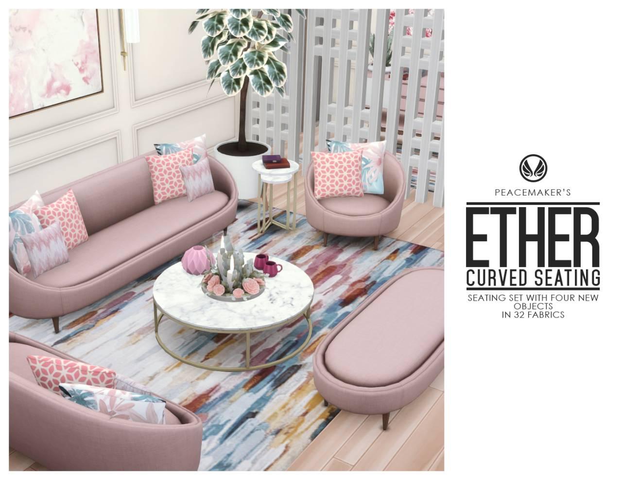 Набор мебели для гостиной - Ether Curved Seating