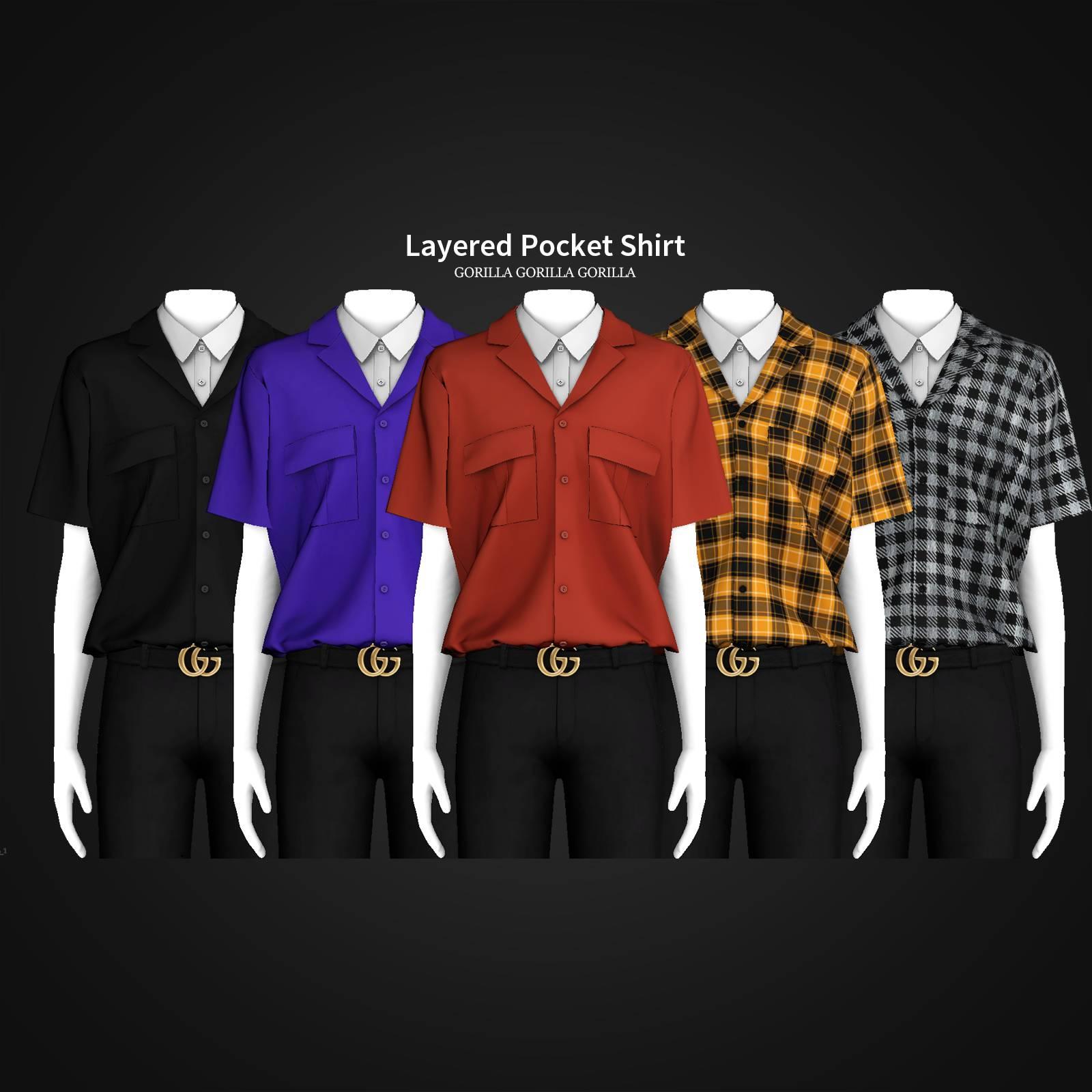 Мужская рубашка - Layered Pocket Shirt