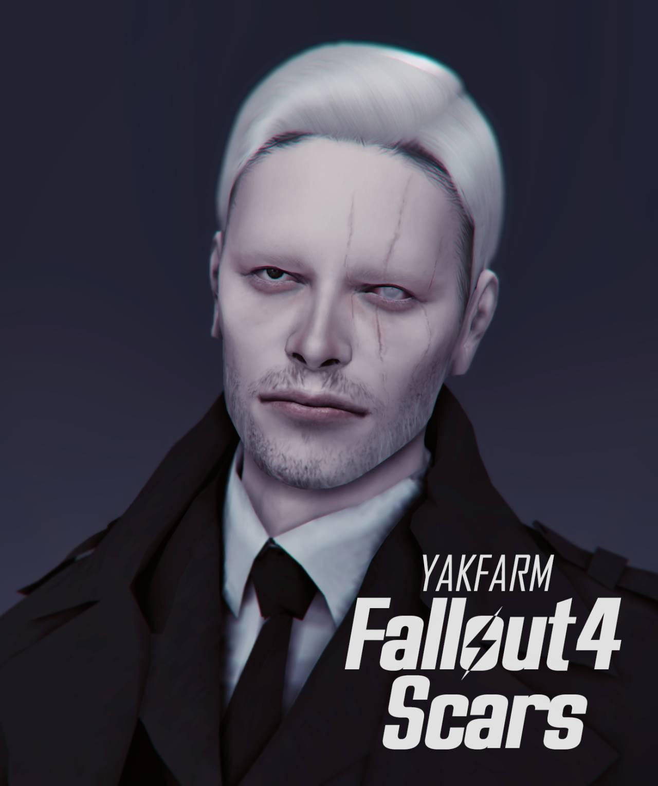 Набор шрамов - Fallout Face Scars