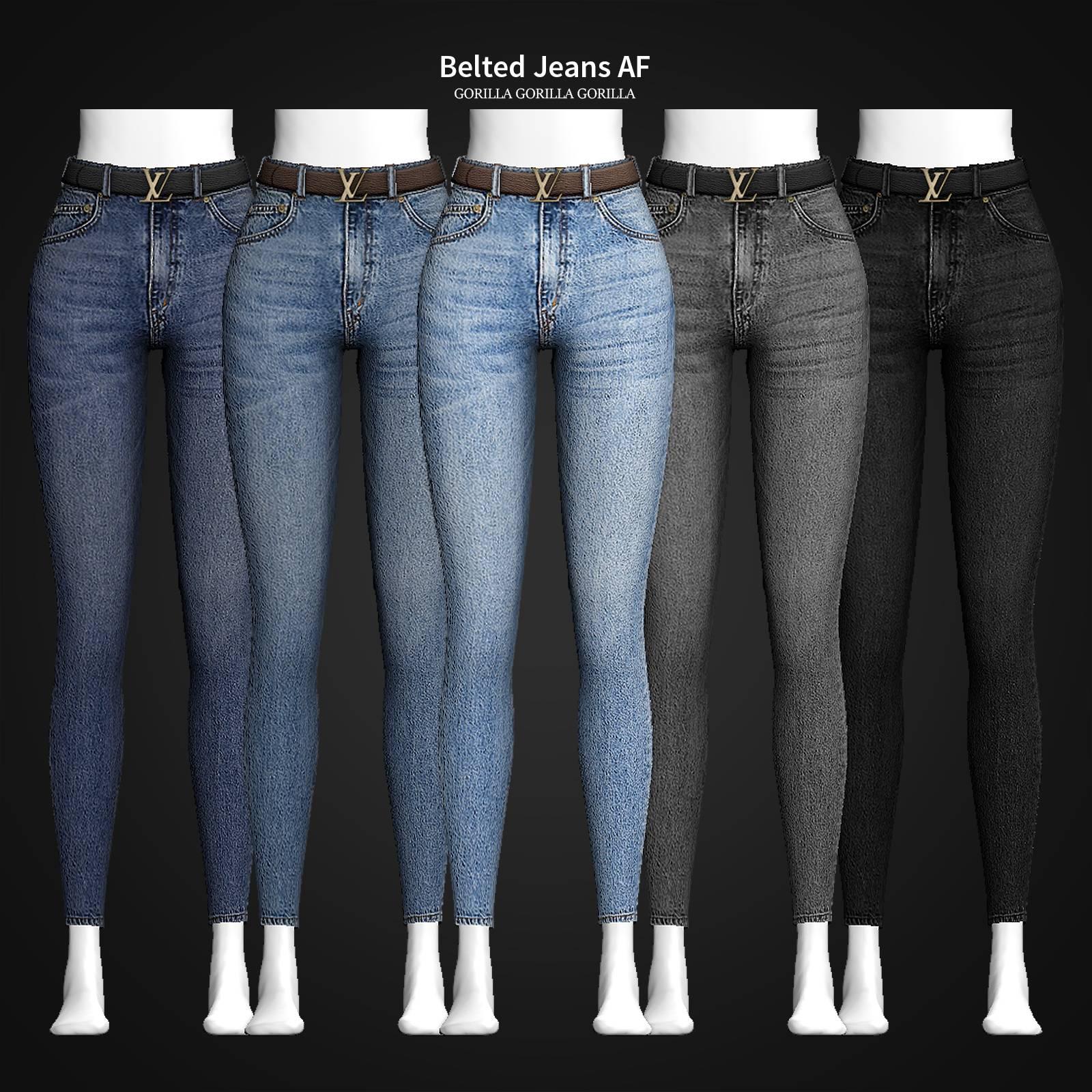 Женские джинсы - Belted Jeans AF
