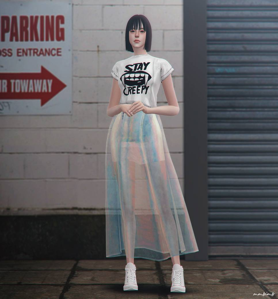 Юбка - Seoul city lights skirt