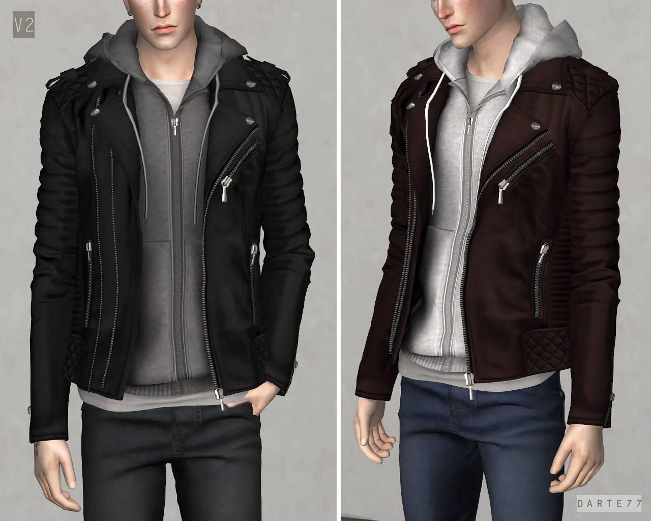 Куртка и худи - Biker Jacket w Hoodie