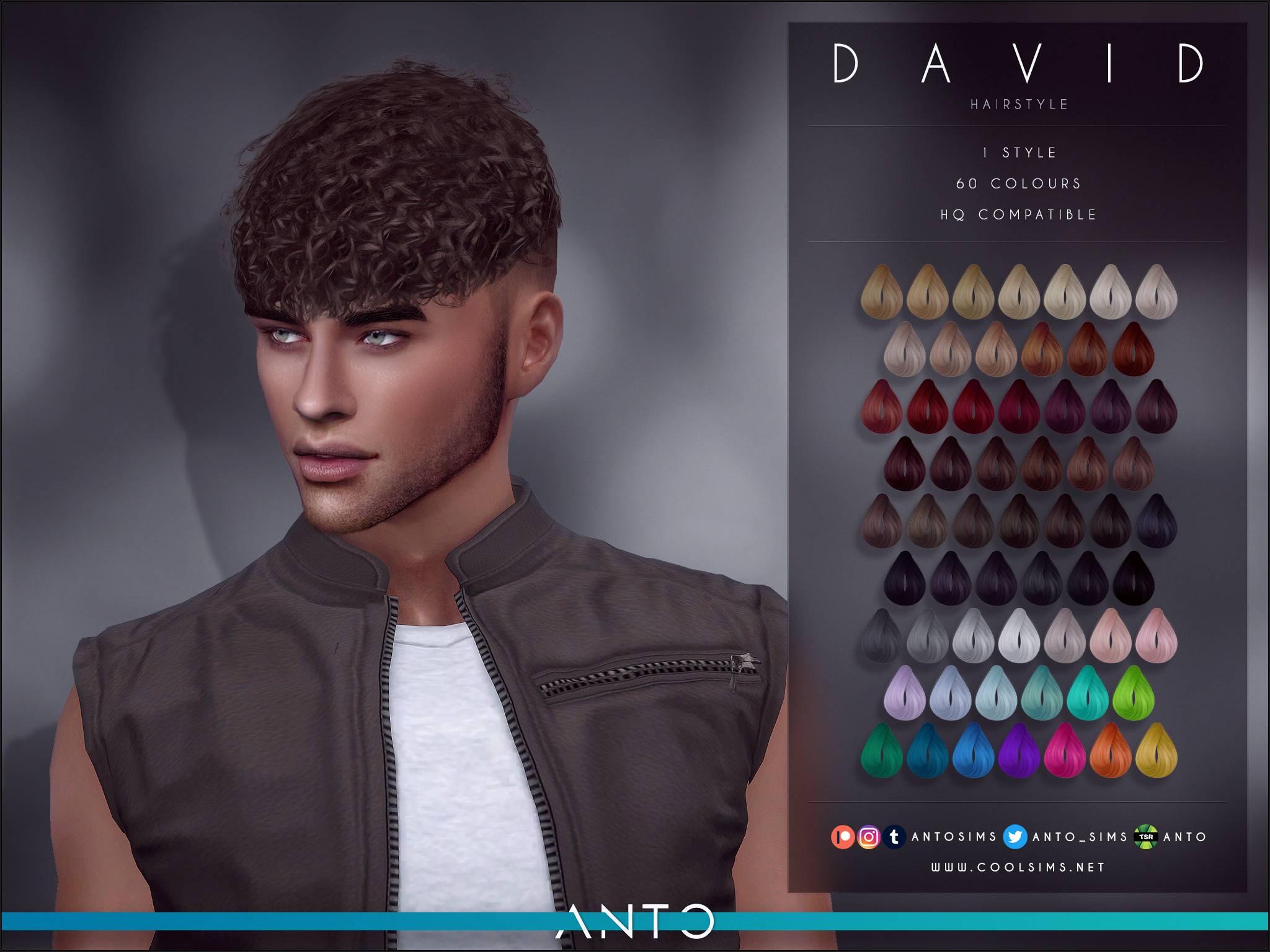 Мужская прическа - David