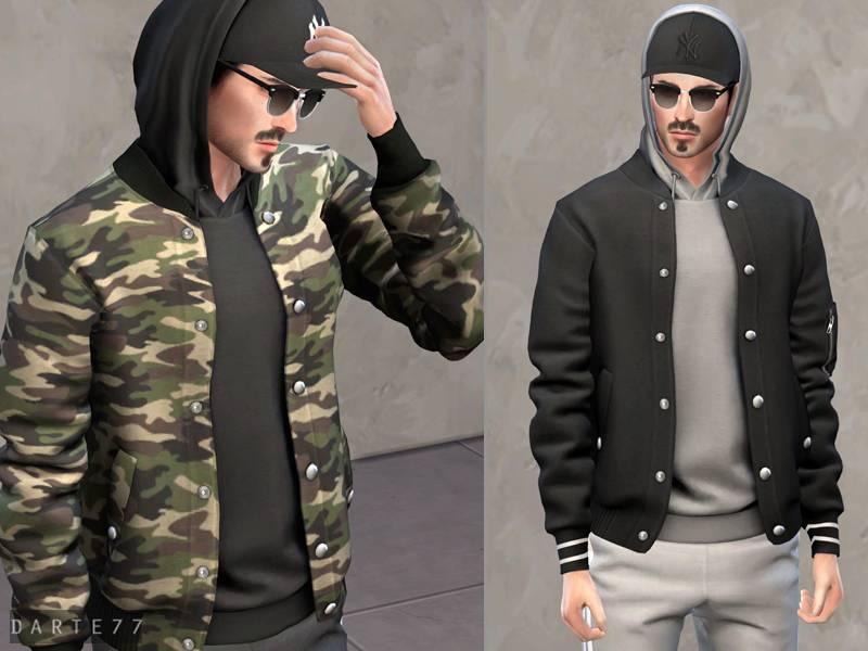 Куртка, худи и кепка - Bomber Jacket with Hoodie