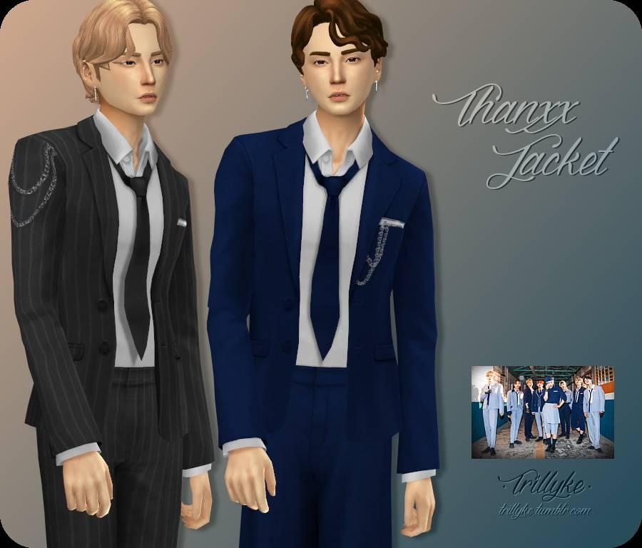 Пиджак, рубашка и галстук - THANKXX JACKET