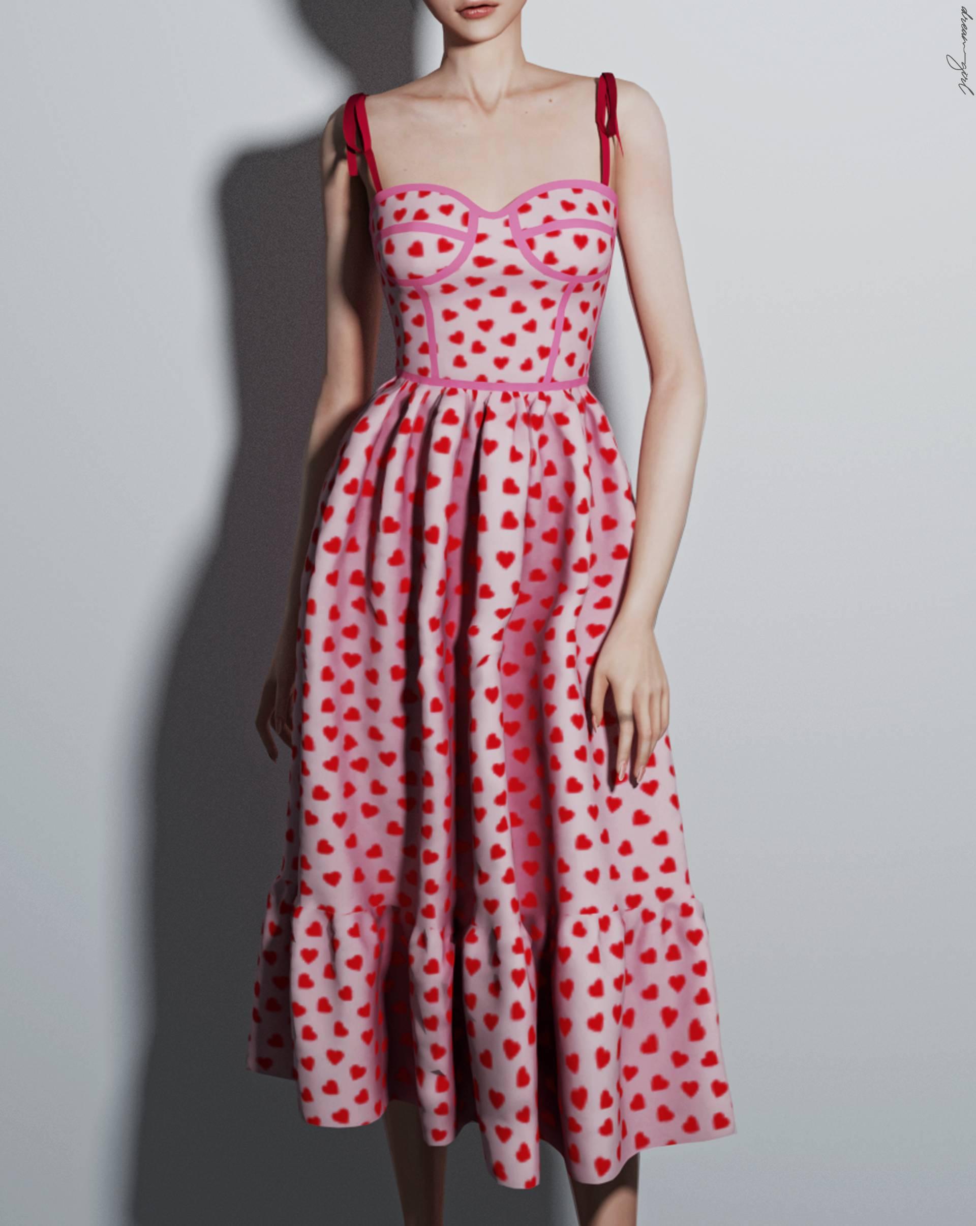 Платье - h e a r t m i d i d r e s s