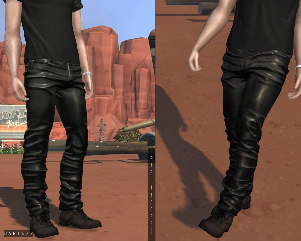 Мужские штаны - Leather Pants (V1 & V2)
