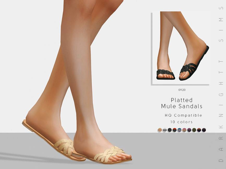 Шлепанцы - Platted Mule Sandals