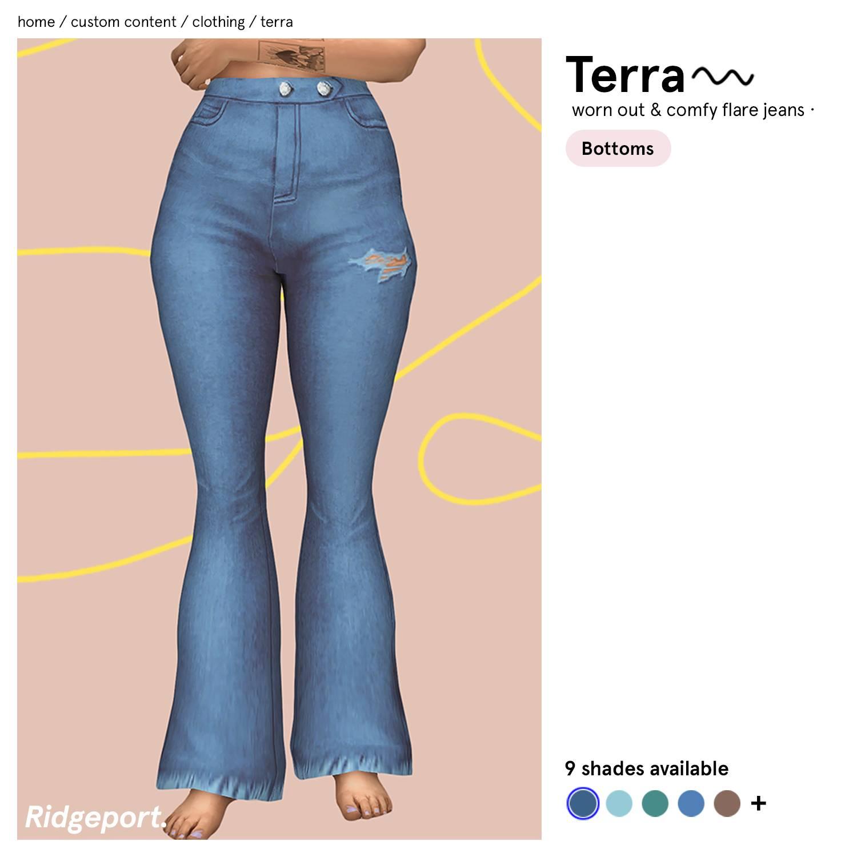 Джинсы - Terra Flare Jeans