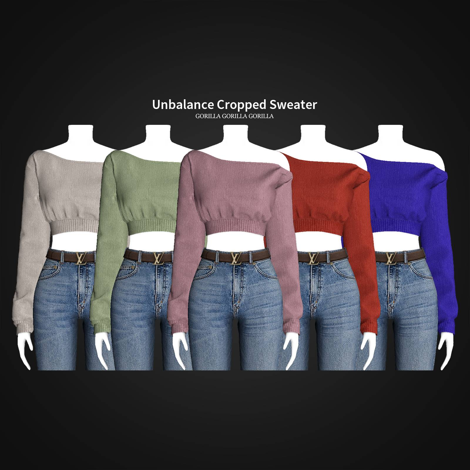Свитер - Unbalance Cropped Sweater