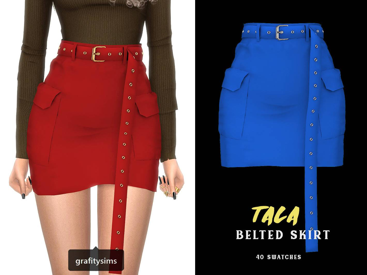 Юбка - tala belted cargo skirt