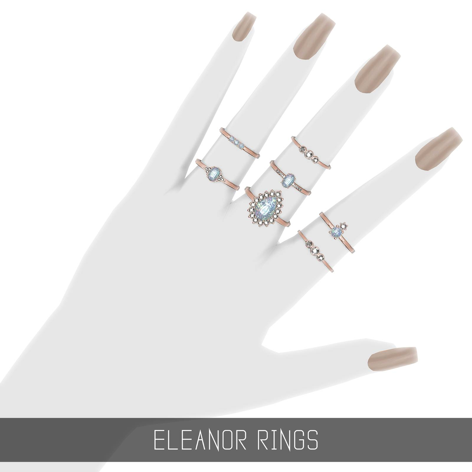 Комплект колец - ELEANOR RINGS