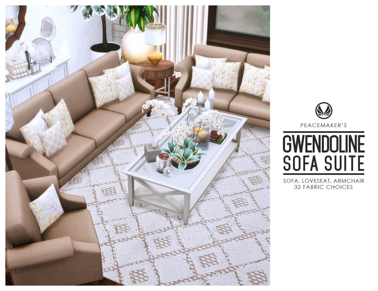 Набор мебели для гостиной - Gwendoline Sofa Suite