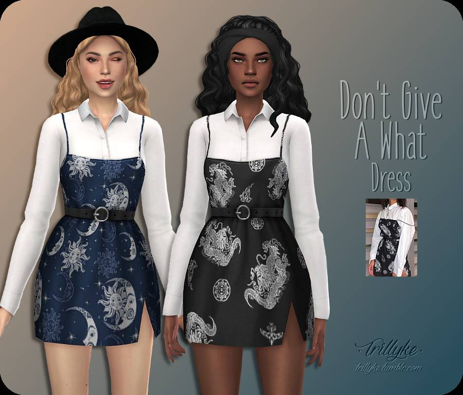 Рубашка и платье - DON'T GIVE A WHAT DRESS