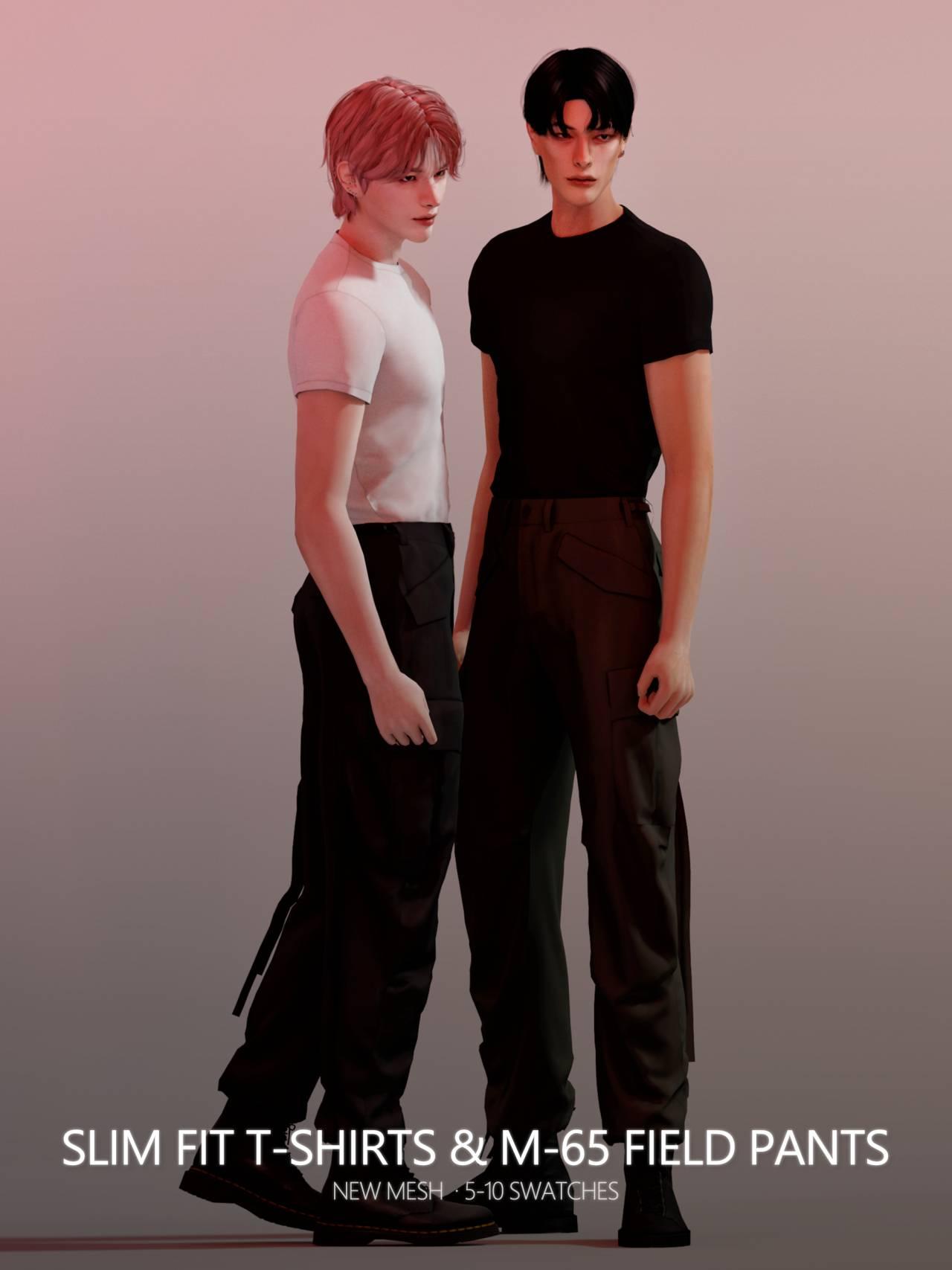 Футболка и штаны - Slim Fit T-Shirts M-65 Field Pants