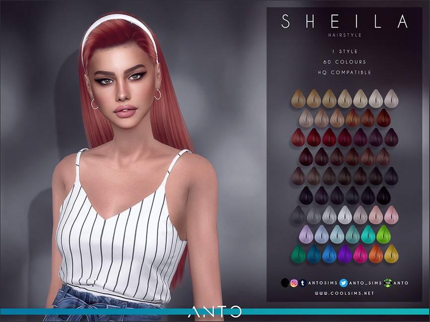 Женская прическа - Sheila