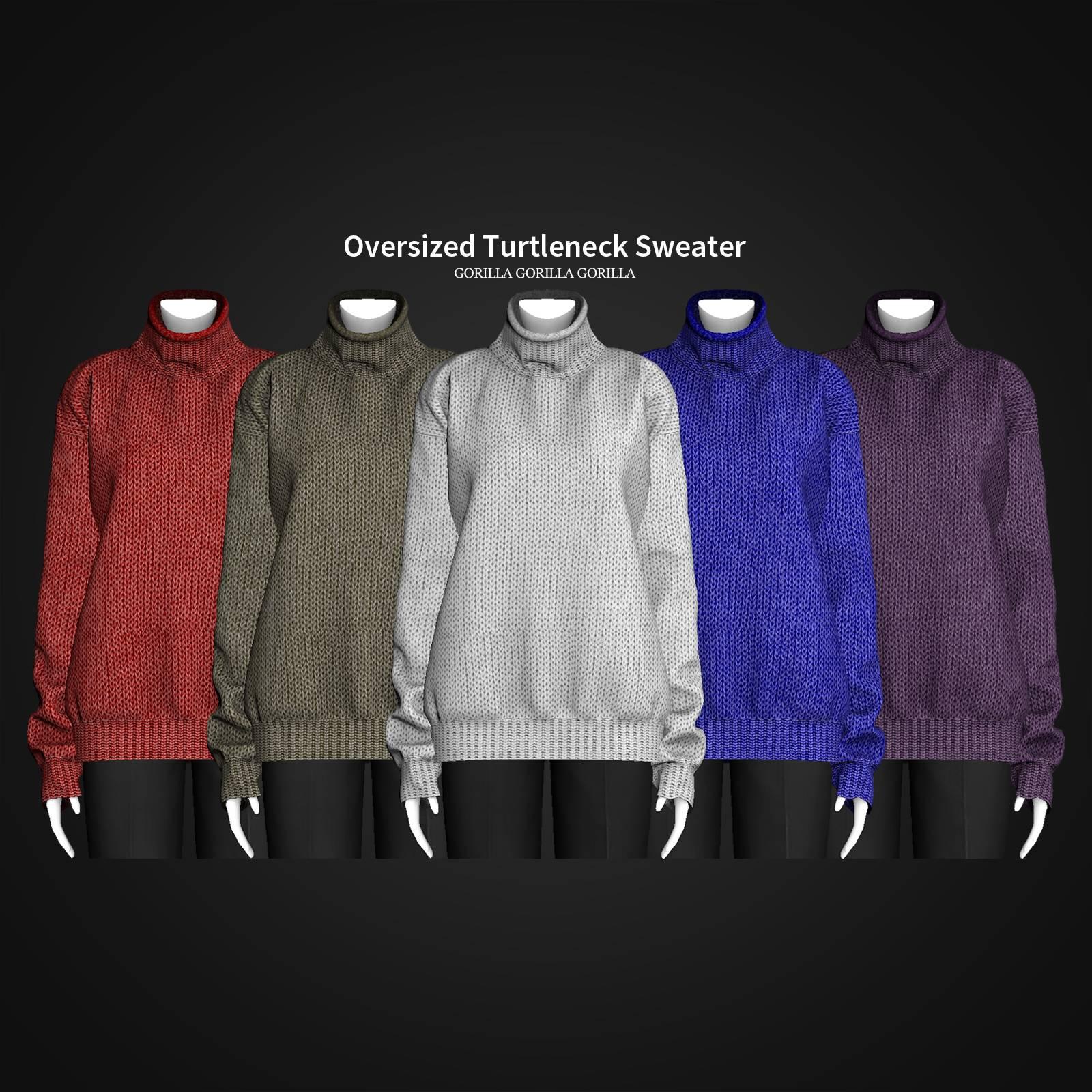 Женский свитер - Oversized Turtleneck Sweater