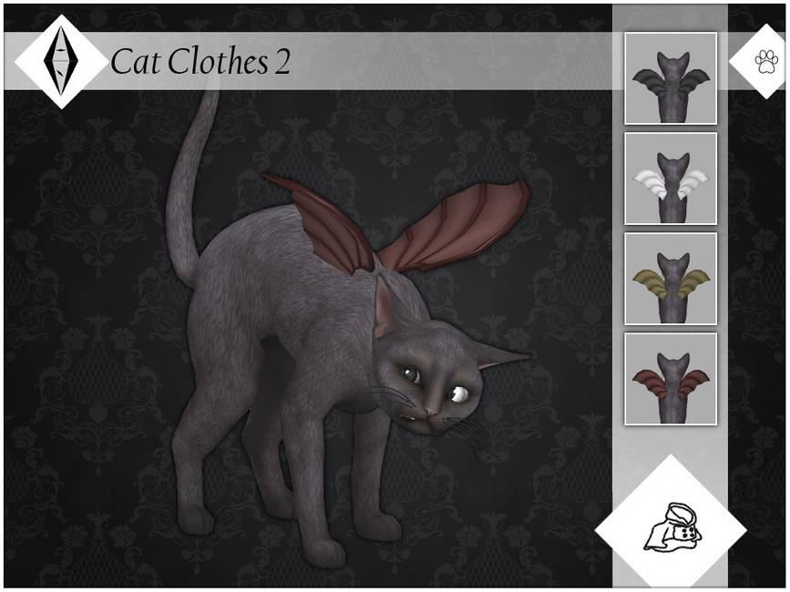 Крылья летучей мыши для кошек - Cat Clothes 2
