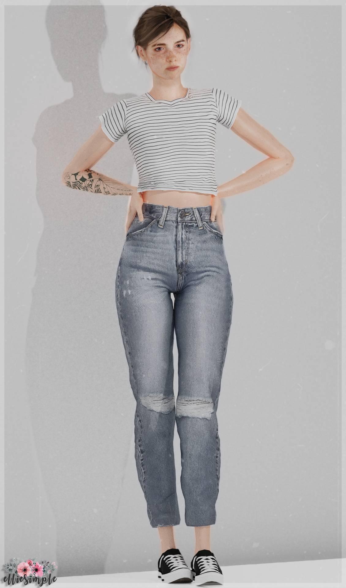 Женские джинсы - High Rise Mom Jeans