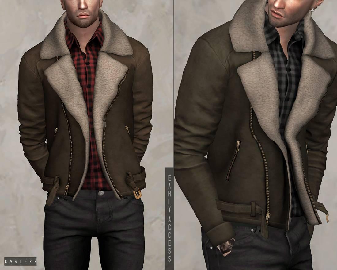 Куртка и рубашка - Fur Suede Jacket