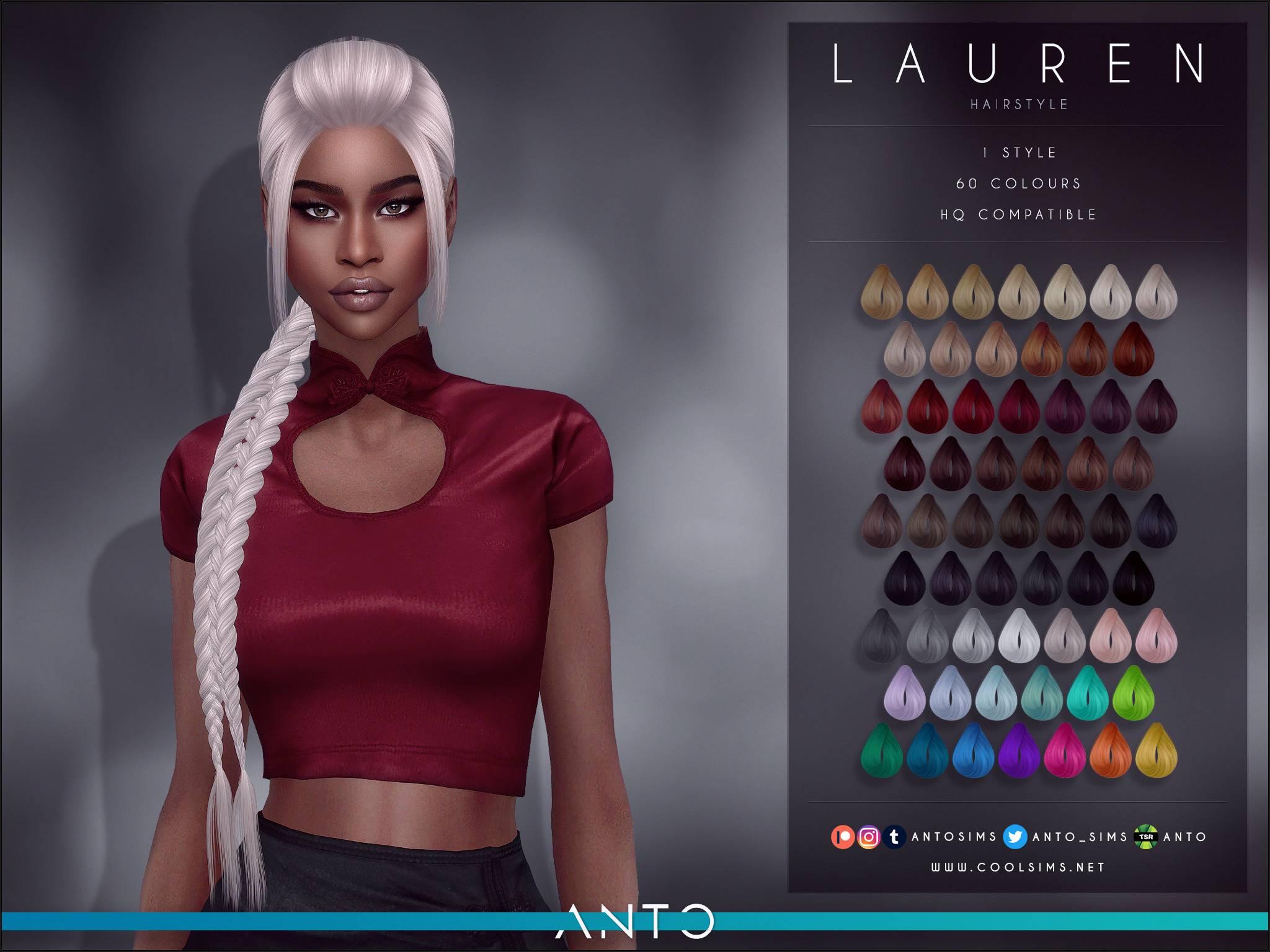 Женская прическа - Lauren