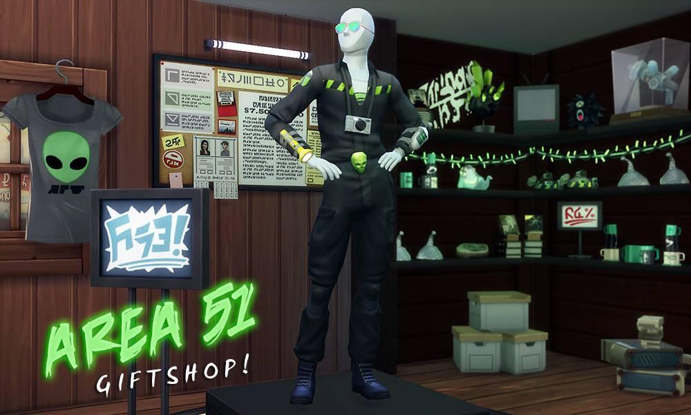 Сет для тематического магазина - Area 51 Giftshop