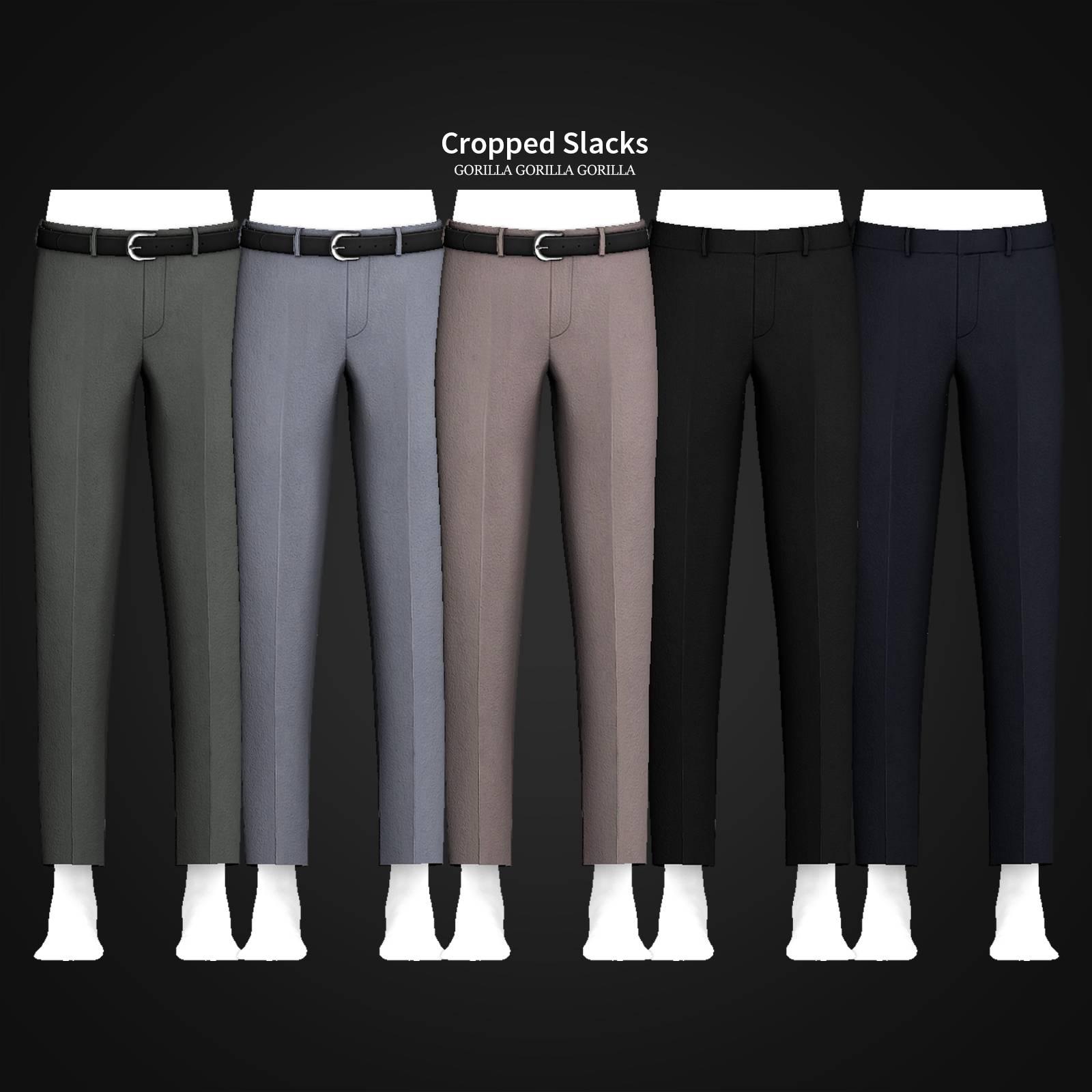 Мужские брюки - Cropped Slacks