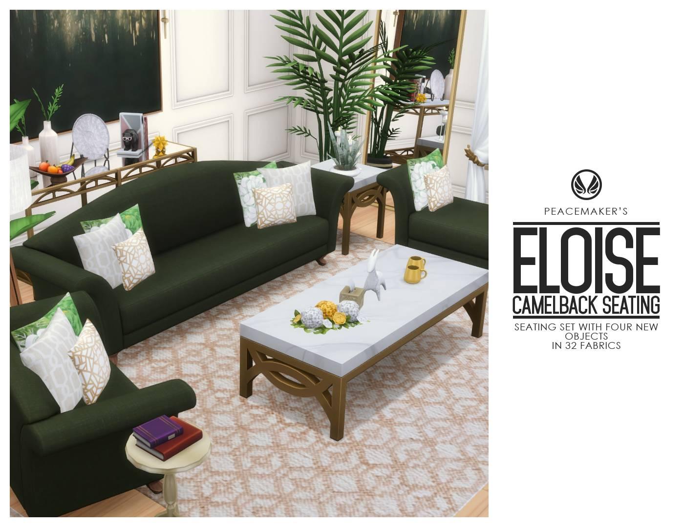 Набор мебели для гостиной - Eloise Camelback Seating