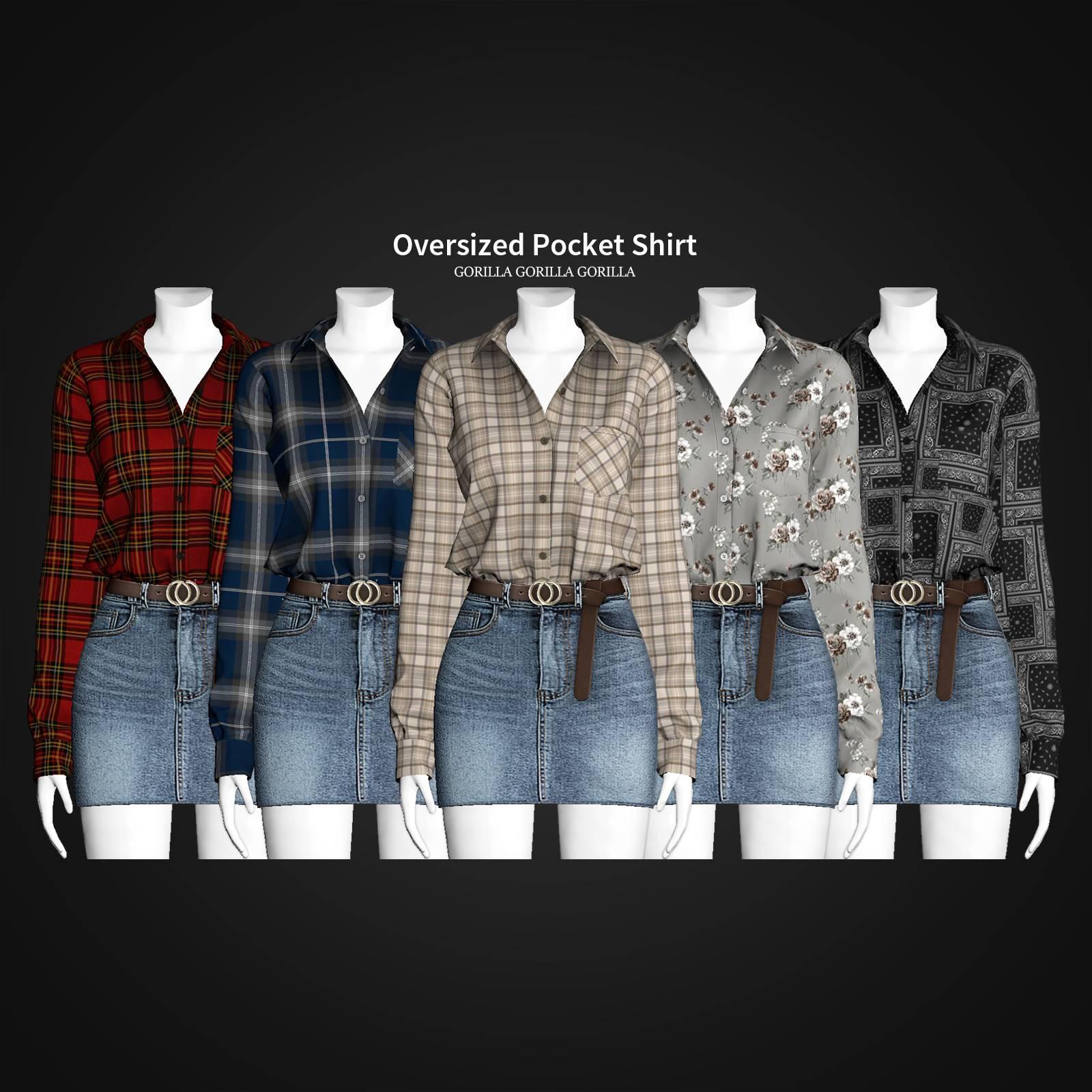 Женская рубашка - Oversized Pocket Shirt