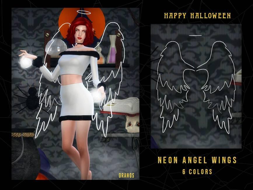 Крылья и нимб - Neon Angel Wings