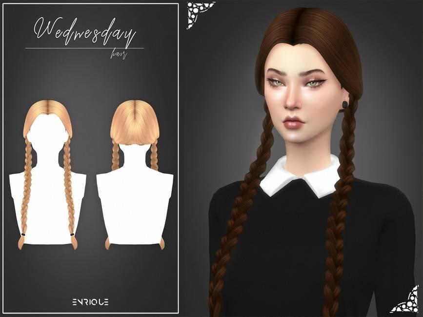 Женская прическа - Wednesday Hairstyle