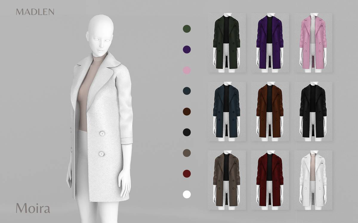Пальто и водолазка - Moira Coat