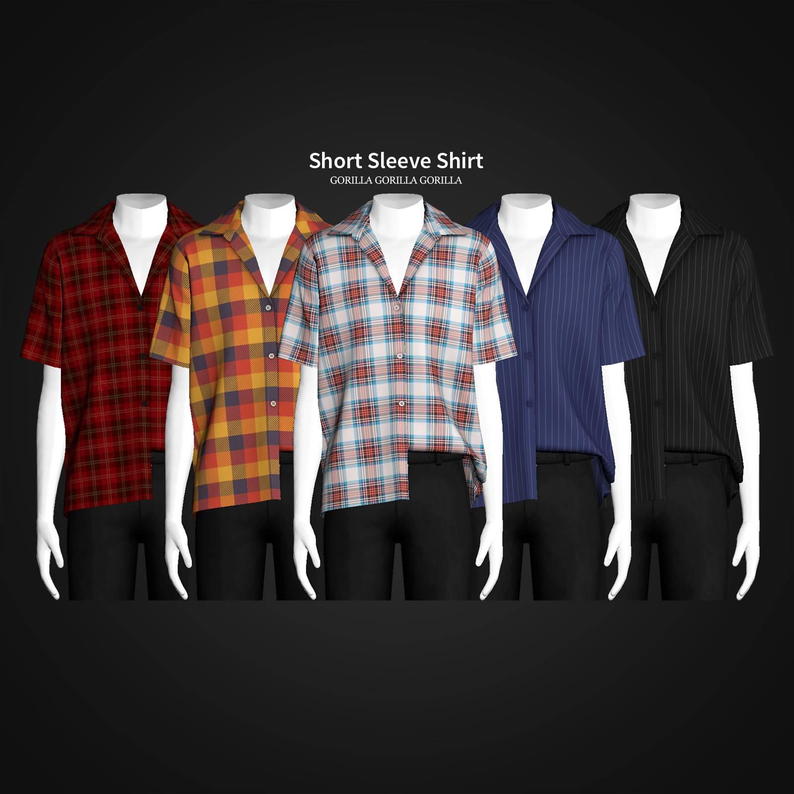 Мужская рубашка - Short Sleeve Shirt