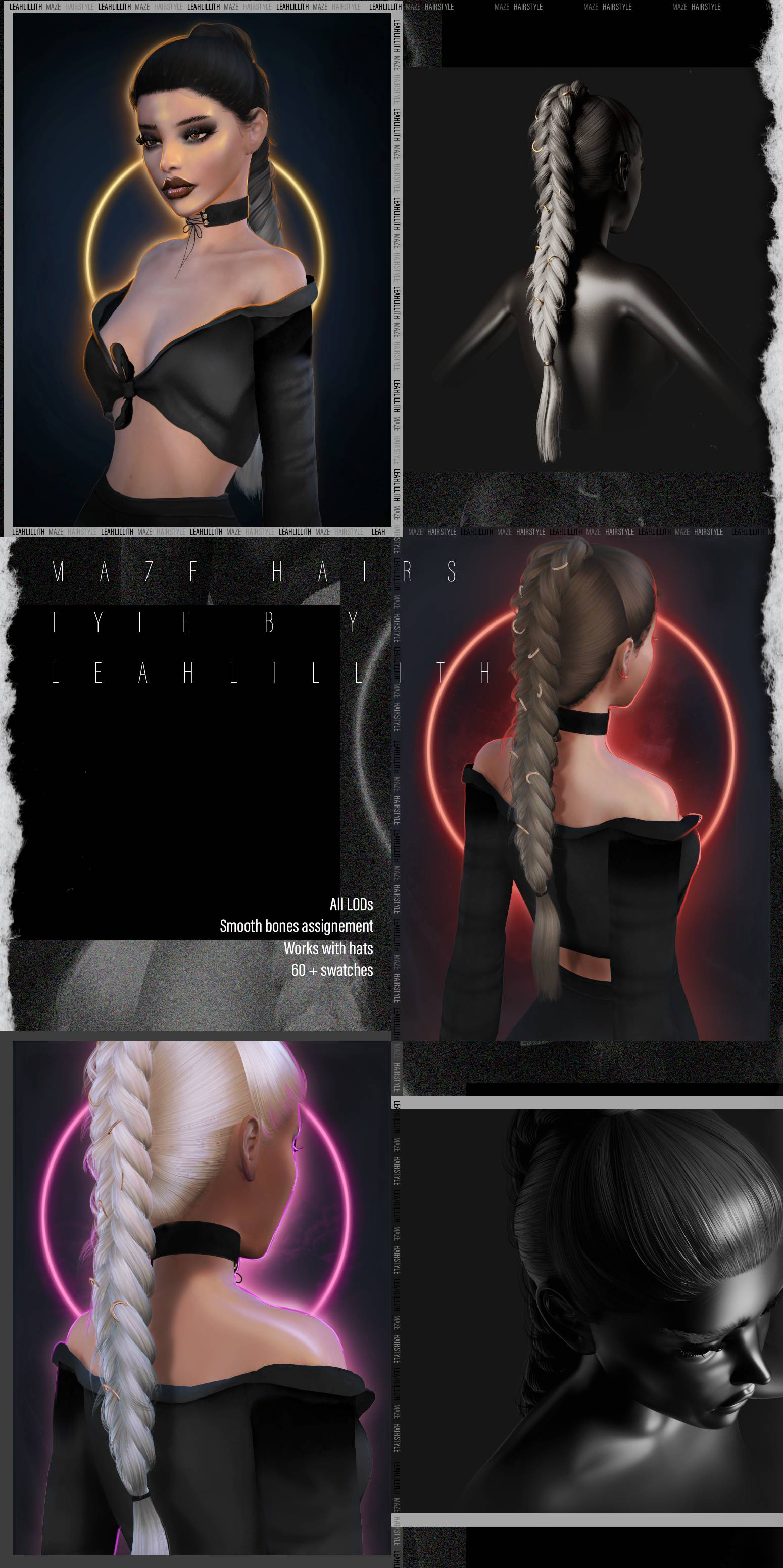 Женская прическа - Maze Hairstyle