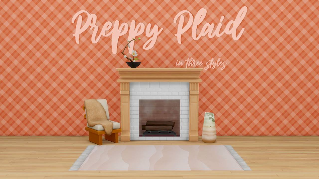 Набор настенный покрытий - preppy plaid