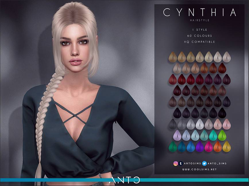 Женская прическа - Cynthia